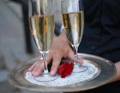 Välkomstdrink till bröllop
