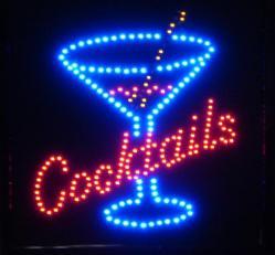 Ledskylt Cocktails